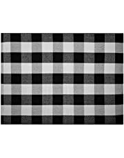 Black and White Outdoor Rug: 3x4 Buffalo Plaid Rug Layered Door Mats for Inside Entry Farmhouse Rugs Entry Mat Entry Way Rug Oversized Door Mat Outside Door Mats Checkered Rug Front Porch Rug Entrance