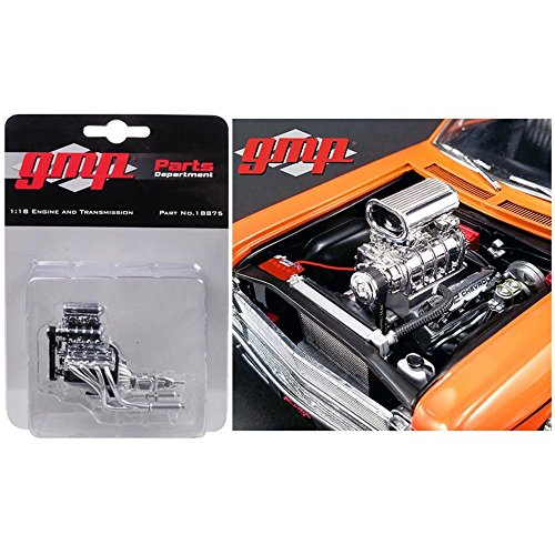 (1968 Chevrolet Nova 1320 Drag King's Blown 572 Engine and Transmission Replica 1/18 by GMP 18875)