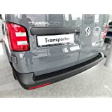 VW Transporter T6 2015> Rear Bumper Cover - Bumper Protector Trim in BLACK ABS