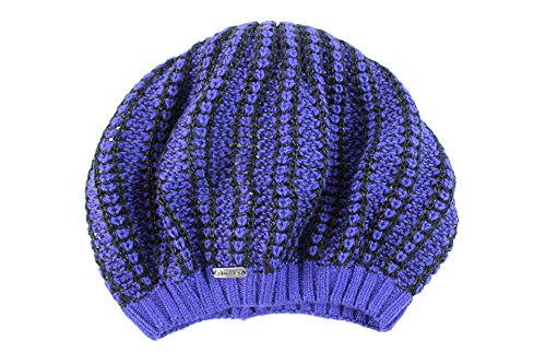 Calvin Klein Women's Petite Imperial Blue/Black Beanie Hat