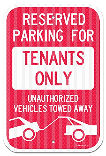 Reserved Parking For Tenants Only Sign, Federal 12