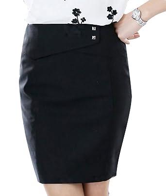 7f01ccde6213 YangguTown YGT Women's A Line Mini Skirt Office Wear Above Knee Pencil Skirt