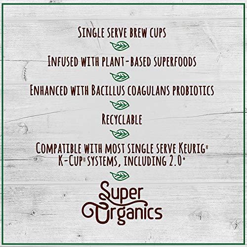 Super Organics Beauty Boost Green Tea Pods With Superfoods & Probiotics   Keurig K-Cup Compatible   Beauty Tea, Skin Care Tea   USDA Certified Organic, Vegan, Non-GMO Natural & Delicious Tea, 72ct by Super Organics (Image #7)