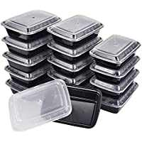 15 Pk KICHEIF Meal Prep Containers with Lids 32oz