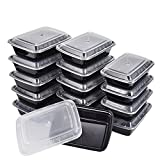 Meal Prep Containers, 15Pack | 32oz, 1 Compartment Food Prep Containers, Food Storage Containers with Lids, Reusable Bento Box - BPA Free, Stackable/Dishwasher/Freezer Safe By KICHEIF