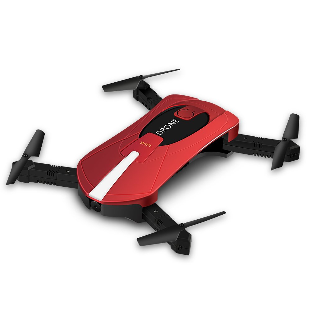 6-Achs-Hubschrauber mit HD-Kamera, Klapp-Fernbedienung Wifi Quadcopter Drone Spielzeug(0.3MP)