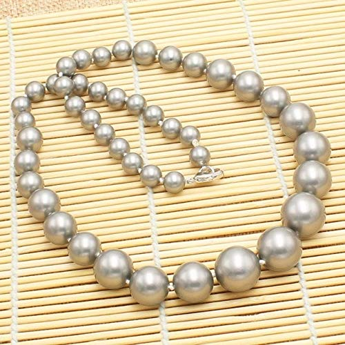Calvas New Beautiful 8-16mm Multi-Color Shell Pearl Gradually Round Necklace 20