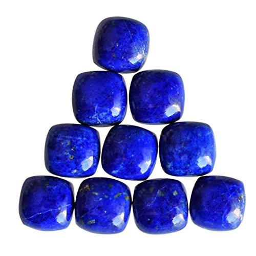 5x5 mm Square Shape, A One Grade Genuine Blue Lapis Lazuli 10 Pcs Lot Cabochon, Jewellery Making Gemstone