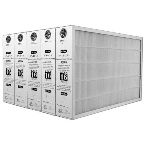 Lennox X8789 MERV 16 Filter - 16'' x 26'' x 5'' (5 Pack)