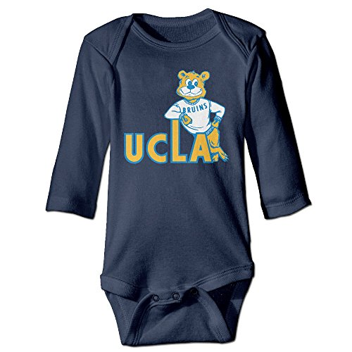 [DEMOO Baby's Ucla Bruins Long Sleeve Clothes/Bodysuit/Climbing Clothes Navy] (Cheerleader Outfit For Sale)