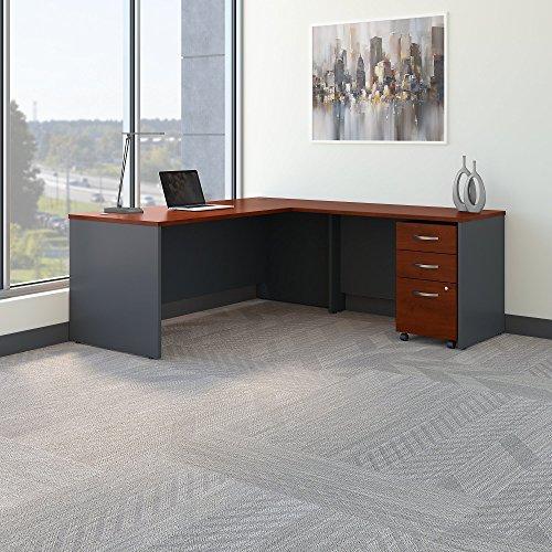 Bush Business Furniture SRC001HCSU Series C 72W L Shaped Desk with 48W Return and Mobile File Cabinet, Hansen Cherry by Bush Business Furniture (Image #2)
