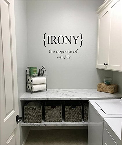 - siyjl Room Wall Decor Stickers Laundry Room Irony The Opposite of Wrinkly Home Decor- Laundry Room Decor- Home Decor Peel and Stick Removable Wall Stickers for Kids Nursery Bedroom Living Room