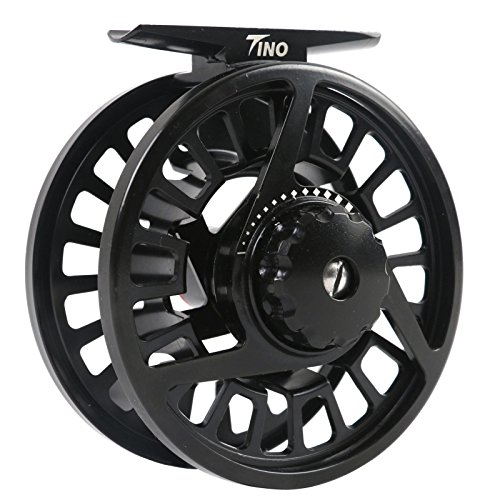 M MAXIMUMCATCH Maxcatch Tino Fly Fishing Reel, Large Arbor Trout Fly Reel: 5/6 Weight (Reel with line Combo, 5/6wt)