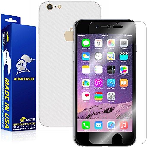 iPhone 7 Plus Screen Protector + White Carbon Fiber Skin, ArmorSuit MilitaryShield...