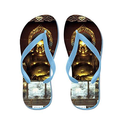 Cafepress Golden Buddha - Infradito, Sandali Infradito Divertenti, Sandali Da Spiaggia Blu Caraibico