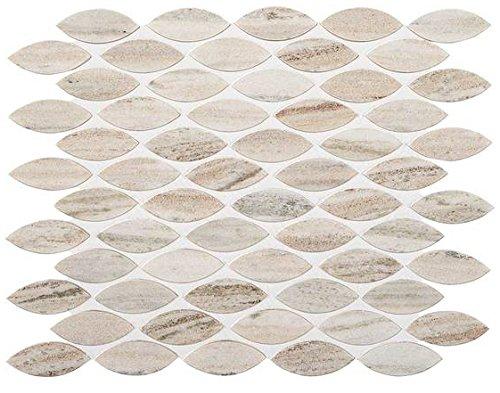 American Olean Tile M110LEAFMS1U Ascend Stone Leaf Mosaic Tile, 1