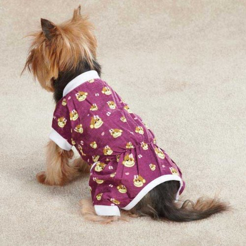 Monkey Business Dog Pajamas Size: Medium (16'' H x 11.5'' W x 0.25'' D), Style: Ty by East Side Collection (Image #6)