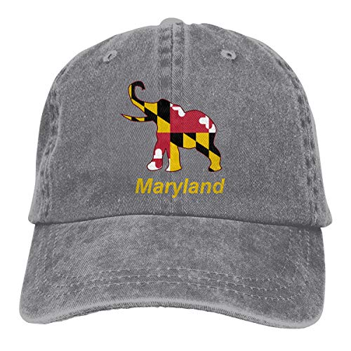 Maryland Republican Elephant Flag Vintage Baseball Cap Trucker Hat Adult Unisex Adjustable Denim Cap