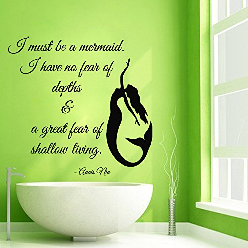 Amazon.com: Wall Decals Vinyl Decal Sticker Words Quote I Must Be A Mermaid  Water Nymph Girl Room Bathroom Decor Kg565: Home U0026 Kitchen Part 75