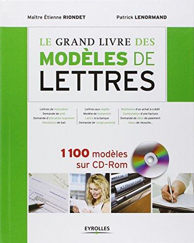 BEST! le grand livres des modeles de lettres ZIP