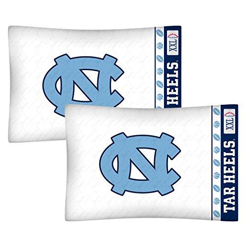 NCAA North Carolina Tarheels Football Set of Two Pillowcases ()