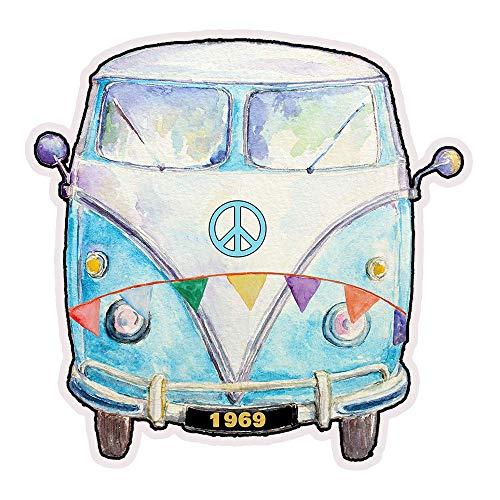- 1969 Hippie Peace Van Die Cut Refrigerator Magnet 3