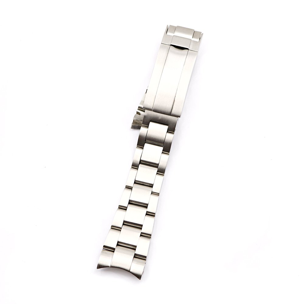 20mm Solid Curved End Screw Links Replacement Watch Band Oyster Bracelet for Deepsea by Generic