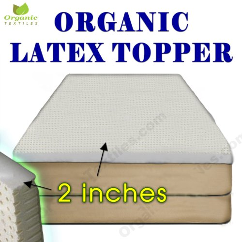 Covered Memory Foam Topper (Certified ORGANIC Latex Topper 2-inch thickness, Covered Soft Organic Cotton. Special Offer. California King size)