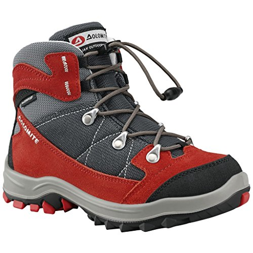 Dolomite Davos Kid Wp Kinder hoher Wanderschuh 251268-0856 fiery red/grey