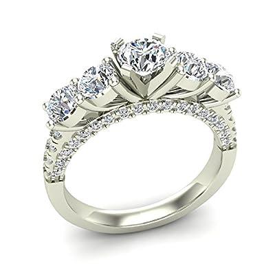 1.94 ct tw Five Stone Diamond Wedding Ring 14K Gold (G,SI)