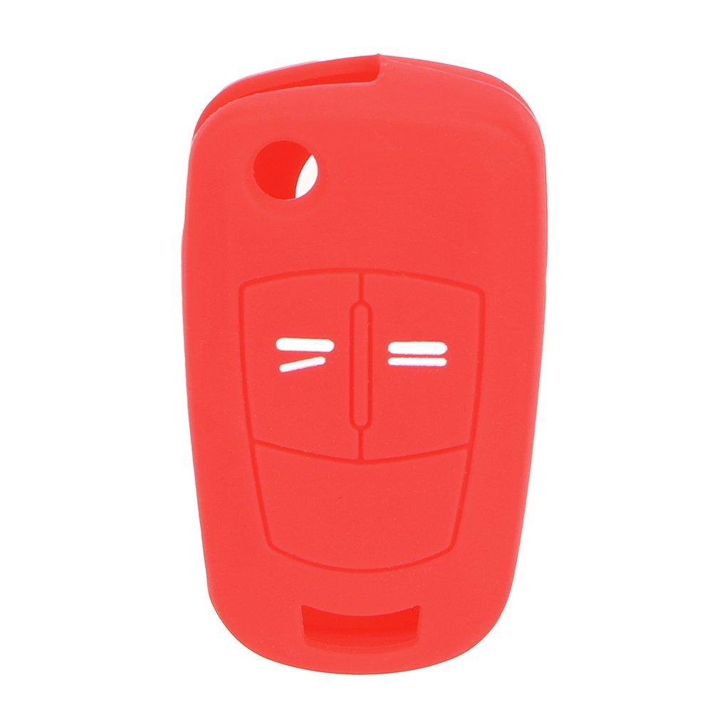 Silicona, 2 Botones NOPNOG Color Rojo Carcasa para Llave de Coche