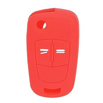 NOPNOG - Carcasa para Llave de Coche (Silicona, 2 Botones), Color Rojo