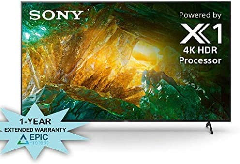 Sony XBR-75X800H 75″ 4K Ultra High Definition HDR Motion Flow LED TV with an Additional 1 Year Coverage by Epic Protect (2020) 51CjA3KBIIL