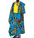 Abetteric Men African Dashiki Gowns Batik Oversized Mulit Color T Shirts 11 2XL
