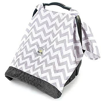Itzy Ritzy Cozy Happens Infant Car Seat Canopy Muslin Collection C. Grey Chevron  sc 1 st  Amazon.com & Amazon.com : Itzy Ritzy Cozy Happens Infant Car Seat Canopy Muslin ...