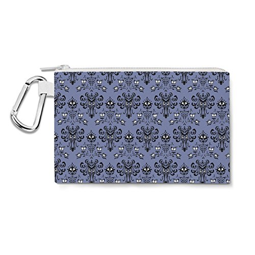 Haunted Mansion Wallpaper Canvas Zip Pouch - 3XL Canvas Pouc