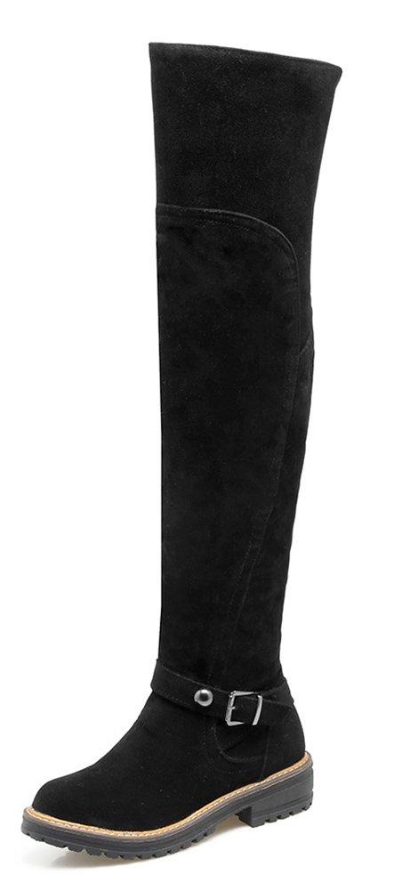 Aisun Femme Classique Cuissardes Cuissardes Femme Longues Bottes Petit Talon Bottes Noir 9d47d31 - reprogrammed.space