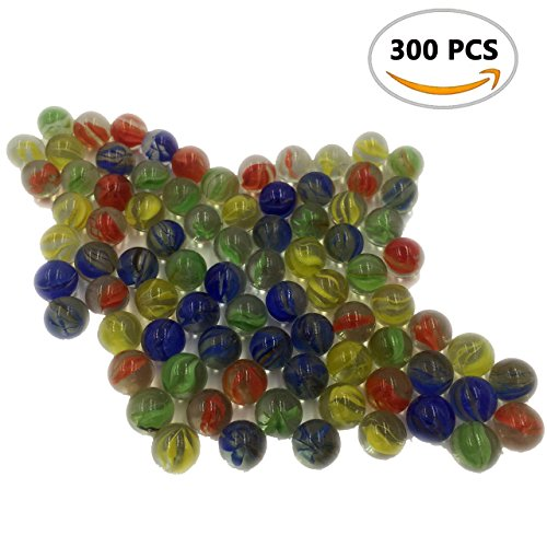 A Little Lemon 300 Pieces Cats Eyes Glass Marble Sling Shot Ammo (Glass Slingshot)