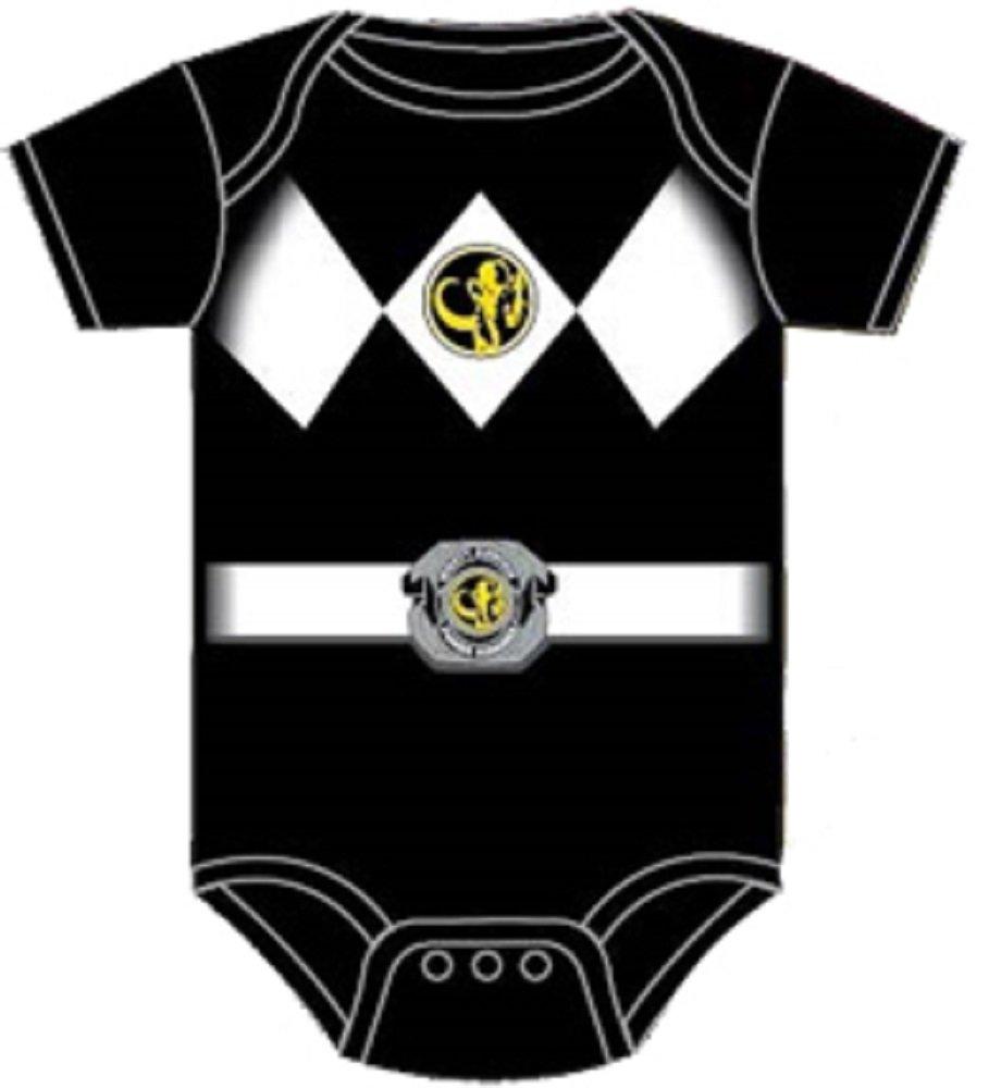 Power Rangers Black Baby Ranger Costume Romper Onesie (12-18 Months)