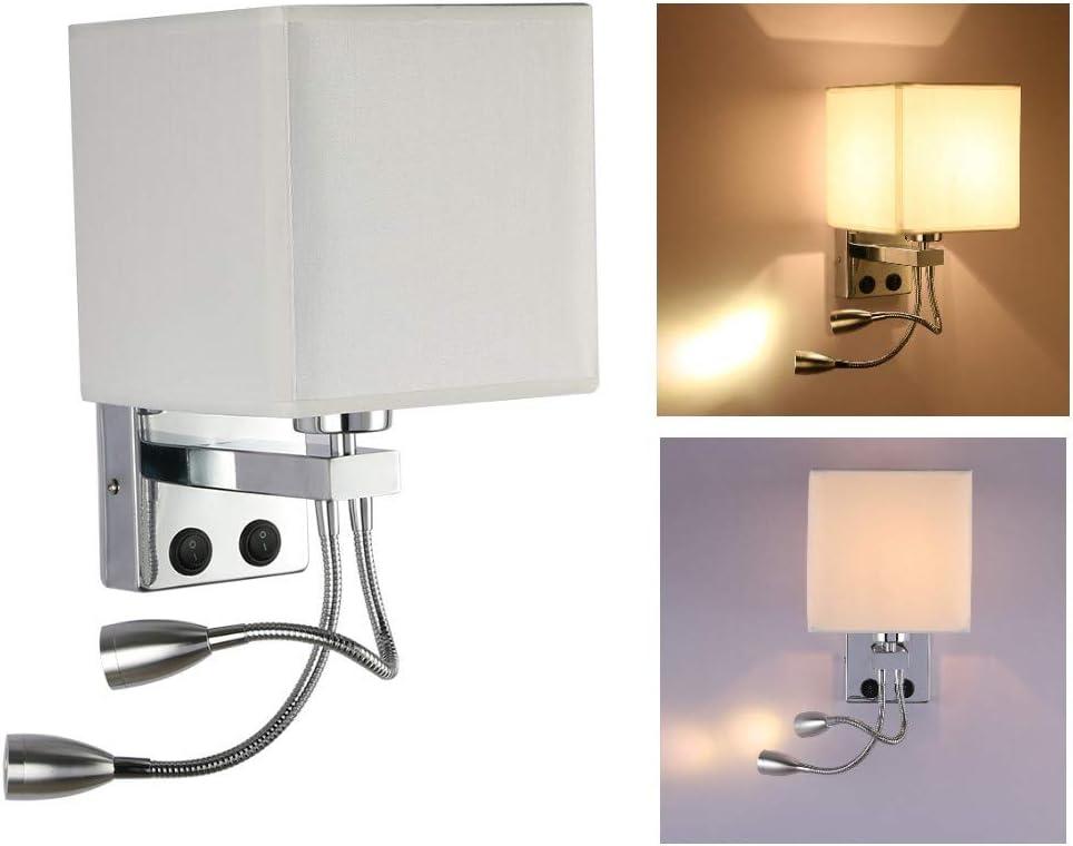 Modern Swing Arm Wall Lamp Spot Light Reading White Mississippi L