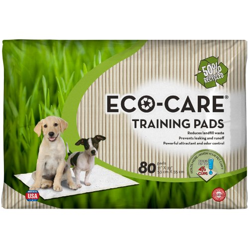 80% Materials Recycled - Eco-Care Training Pads, 80 Count