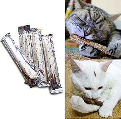 25pcs Cat Cleaning Teeth Pure Natural Catnip Pet Cat Molar Toothpaste Stick Toy