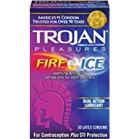 Trojan Condom Pleasures Fire and Ice Dual Action Lubricant