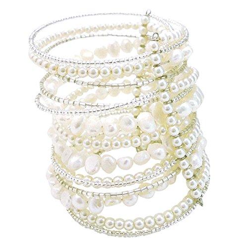 AeraVida Mystique Cultured Freshwater Pearl Around Wrap Bracelet