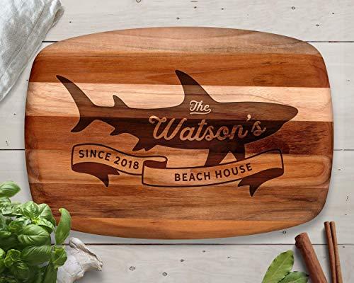 Cheap  Shark, Cutting Board, Teak, Sharks, Beach House, Lake House, Beach Decor, Lake..
