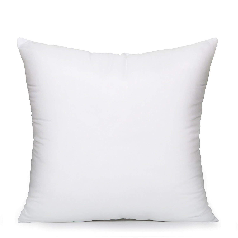 EVERMARKET Square Poly Pillow Insert, 18 L X 18 W, White (1) 18 L X 18 W ET-W442