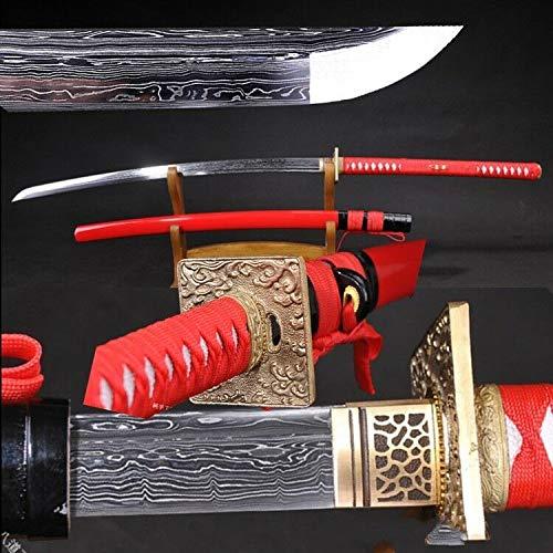 - Yongli Sword Handmade Full Tang Japanese Long Katana Tachi Damascus Folded Steel Samurai Sword