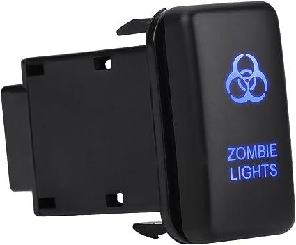 Luz de conducci/ón Interruptor basculante del coche Interruptor de luz LED de encendido//apagado 12V LED azul Autom/ático del coche Encendido Interruptor de palanca basculante
