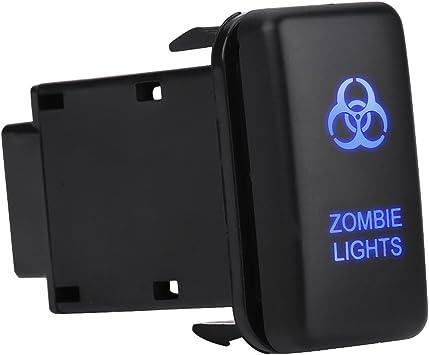 Car Rocker Switch ON-OFF LED Light Switch 12V Blue LED Car Auto On Off Rocker Toggle Switch SPOT LIGHTS
