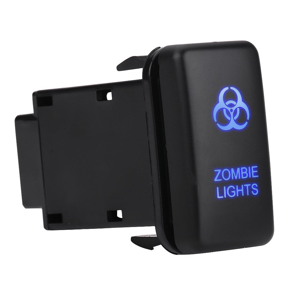 Car Auto on off Rocker Switch, VGEBY 12V Blue LED Car Auto Toggle Switch for Toyota Hilux Landcruiser ZOMBIE LIGHTS